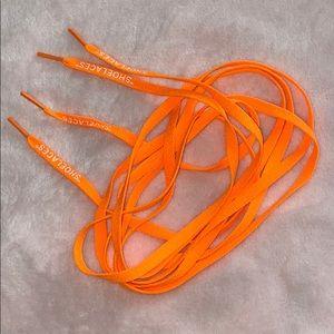"""Other - Neon Orange Shoe Laces """"SHOELACES"""""""